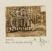 Y. ROYON (*1938), D. Ruine d. Anhalterbahnhofs, Berlin, 20. Jhd., 2/25, Rad.
