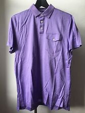 Molto cool Ralph Lauren Purple Label Super Sottili Morbido Cotone Polo T Shirt S ITALIA