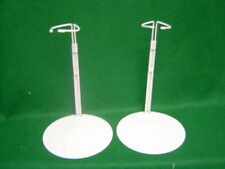 Doll Stands 2 two Gray Metal stands 16-26 inch Dolls and Teddy Bears
