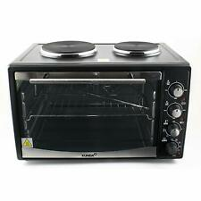 Mini Convection Oven Grill Electric Hob Rotisserie Cooker Baking 2 Hot Plate 30L