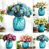 Artificial Silk Fake Flower Peony Wedding Bridal Bouquet Hydrangea Home Decor