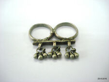 double ring tow finger ring vintage antique ethnic tribal old silver