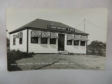 VINTAGE REAL PHOTO POSTCARD THE NORTHPORT CAFE IN NORTHPORT MAINE UNUSED 1940'S
