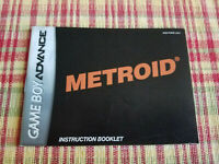 Metroid - Authentic - Nintendo Game Boy Advance - GBA - Manual Only!