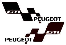 Peugeot GTI Sticker 180 140 mi-16 106 206 207 Decal Side skirt 420mm Pair x 2