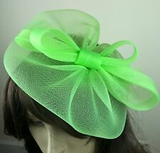 apple green fascinator millinery burlesque wedding hat ascot race bridal