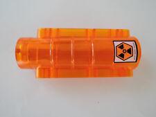 Lego 1 x Zylinder Bett Alien 58947pb02 transparent orange 9x4x2  Sticker 7699
