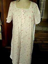 Vintage Chemise Robe Shabby coton fleurs roses et dentelle