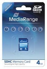 MediaRange SDHC 4 GB Karte SD Speicherkarte Class 10