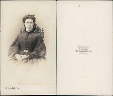 Dardel, Mulhouse, portrait de jeune femme Vintage CDV albumen carte de visite