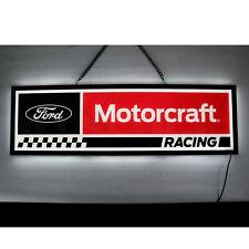 Ford Motorcraft Racing parts Flags Led sign Mustang Cobra F-150 shop lamp light