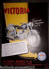 VICTORIA BERGMEISTER V35 PROSPEKT 1951 PROSPEKT OLDTIMER SAMMLER