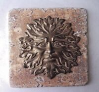 "Green man tile mold abs plastic reusable casting mould 6"" x 6"" x 1/3"" thick"
