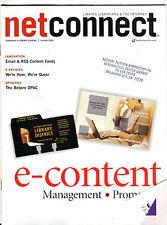 Net Connect Magazine Summer 2004 e-content Management EX FAA 030816jhe
