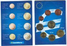 Greece 2002 - Set of 8 Euro Coins (UNC)