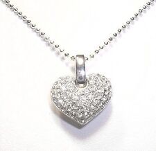 """Classic Heart Pendant 925 Sterling Silver Necklace 16"""" or 18"""""""