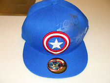 Captain America New Era Hat Foil Slick Cap 7 3/8 Blue