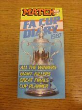 1989 corrispondenza: FA Cup DIARIO 1987 - 8 ADESIVI MANCANTI. bobfrankandelvis i venditori