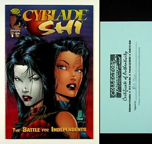Cyblade Shi #1 1st App of Witchblade Signed by Billy Tucci Crusade Comics