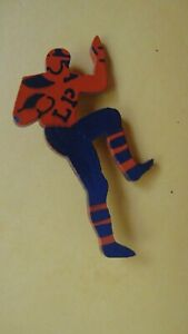 Football Player Pin With L P On It