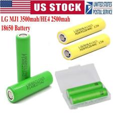 2PC LG MJ1 HE4 3500/2500mAh Li-ion Battery 18650 HIGH DRAIN Rechargeable Battery