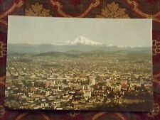 Vintage Postcard Portland, Oregon, With Mt. Hood In The Background
