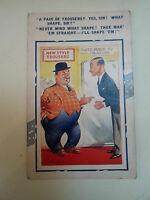 Vintage BAMFORTH COMIC SERIES NO 5 POSTCARD Gent Shopping For Trousers Humour