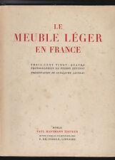 Le meuble léger en France  324 photos de Pierre DEVINOY