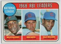 1969 Topps #4 RBI Leaders VG-VGEX Crease Willie McCovey Santo FREE SHIPPING