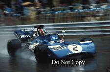 Francois Cevert Elf Tyrell 002 Monaco Grand Prix 1972 Photograph 3