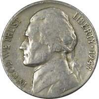 1947 Jefferson Nickel 5 Cent Piece AG About Good 5c US Coin Collectible