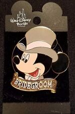 RARE 2001 WALT DISNEY WORLD MICKEY MOUSE WEDDING BRIDEGROOM PIN