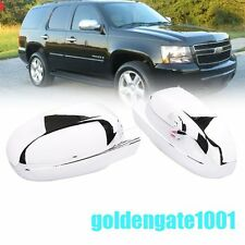 Chrome Side Door Full Mirror Cover Pair Fit 07-13 Silverado Avalanche Tahoe GG