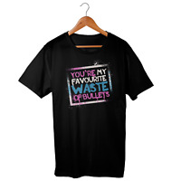 League of Legends Jinx Quote T-Shirt, Waste of Bullets, Adult Unisex Tee, Games