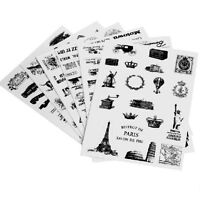 6X Retro Diary Decoration Scrapbooking Transparent Stationery Planner Sticker FD