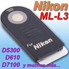 Mando Remote Nikon Ml-l3 ★d3400 D7500 P900 D7100 D5200 D3200 P6000 F75
