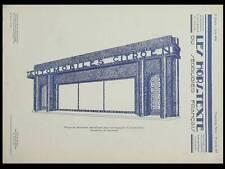 DEVANTURE MAGASIN CITROEN - 1931 - ART DECO, AUTOMOBILE, SERRURIER FRANCAIS