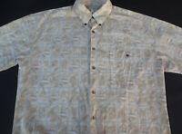 Tori Richard Mens Hawaiian Aloha Button Front Short Sleeve Cotton Shirt Medium M