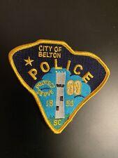 Belton South Carolina SC Police Patch