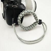 Gray Adjustable Braided Camera Wrist Strap Bracelet Camera Accessories CF