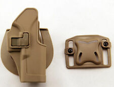 Quick Tactical Holster Right Hand Paddle with Belt for Glock 17 18 19 22 31 Tan