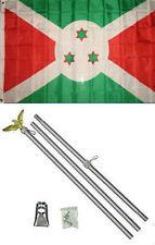3x5 Burundi Flag Aluminum Pole Kit Set 3'x5'