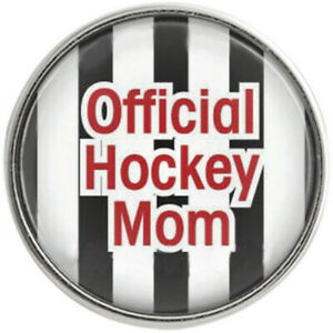 Snap Jewelry Official Hockey Mom Glass 18-20mm Fits Ginger Charms Accessories