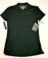 Nike Golf Dry Blade Polo Shirt Womens Black Training Dri-Fit AH4498-010 NWT
