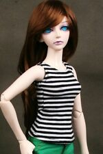 [PF] 06# Black Striped T-shirt 1/4 MSD AOD DOD BJD Doll Dollfie