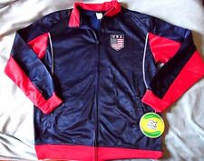 """UNITED STATES of AMERICA """"RHINOX OFFICAL"""" BLUE/RED USA SOCCER JACKET MENS XL $95"""
