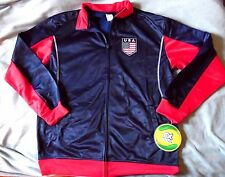 "UNITED STATES of AMERICA ""RHINOX OFFICAL"" BLUE/RED SOCCER JACKET MEN'S XL $95NEW"