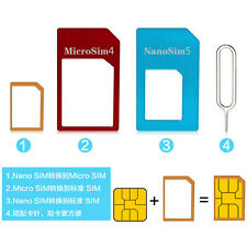 1PACKS Nano SIM Card to Micro Standard Adapter Adaptor Converter Set for iPhone