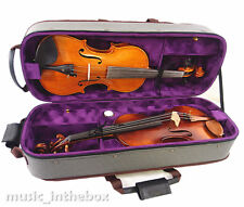 Good Quality / Pro. 4/4 Wooden Two/Double Violin Case - for air-flight on-board