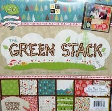 "The Green Stack 12"" x 12"" Printed Paper DCWV 36 Textured Sheets 18 Designs New"